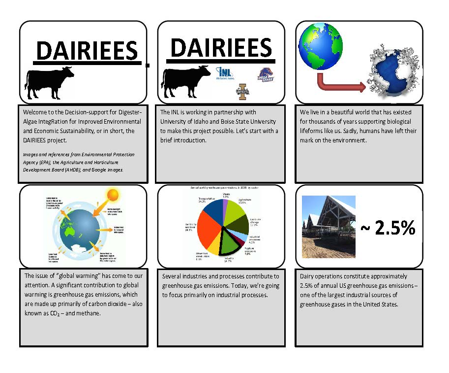 Photo of the DAIRIEES Storyboard